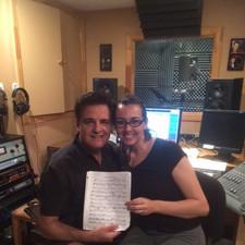 In the recording studio with Charles Di Raimondo