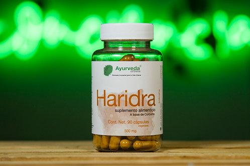 Cúrcuma (Haridra) orgánica de 90 cápsulas vegetales