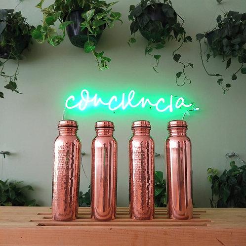 Botellas de Cobre 100% con Mantras