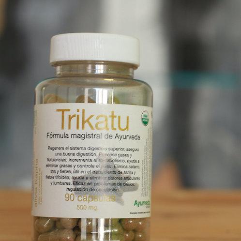 Trikatu orgánico de 90 cápsulas vegetales