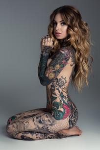 Little Linda Tattoo sexy model photoshoot