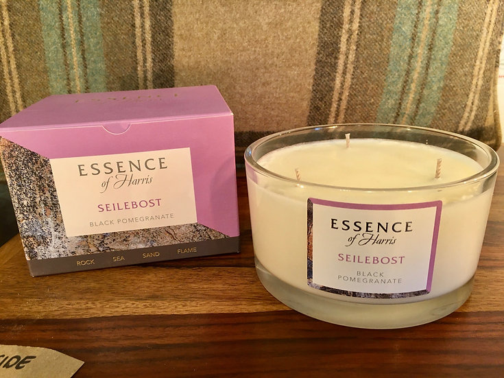 Essence Harris large 3 wick Seilebost glass candle