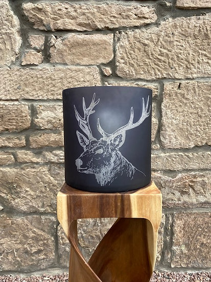 Glass Stag Candle Holder (Large)