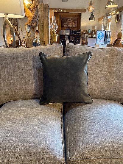 Subtle Earth Green Velvet Cushion