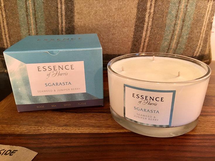 Essence Harris large 3 wick Sgarasta glass candle