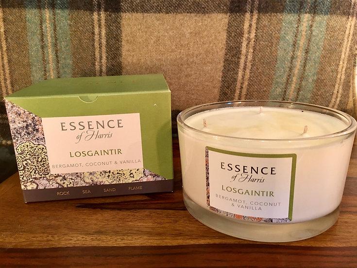Essence Harris large 3 wick Losgaintir glass candle