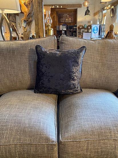 Crushed Blue Velvet Cushion