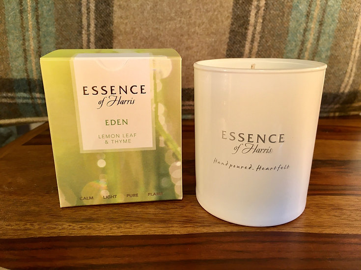 Essence of Harris Eden glass candle