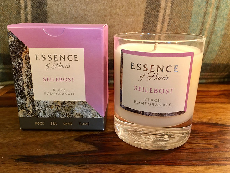 Essence of Harris Seilebost glass candle