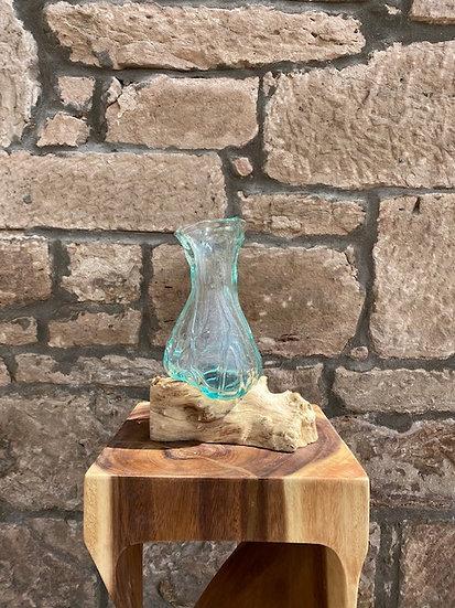 Molten Glass Crinkle Vase