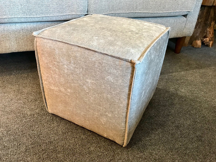 Light grey cube stool