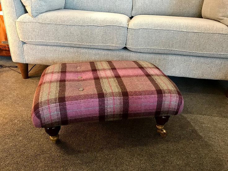 Heather moon tweed footstool