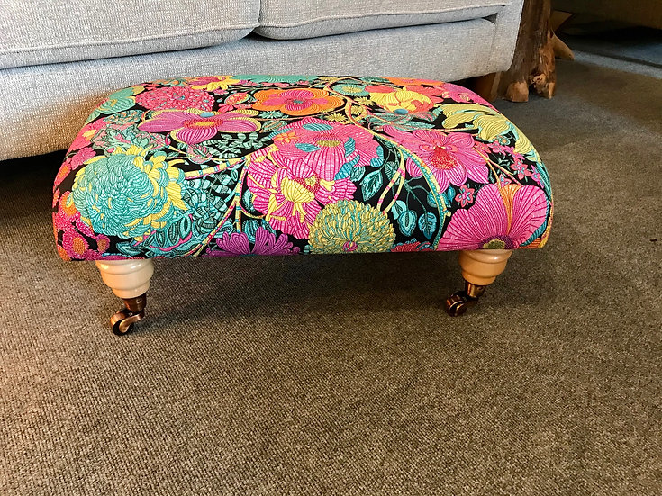 Blendworth library print footstool