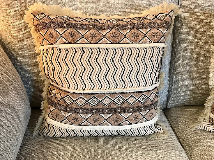 Boheme fringed cushion