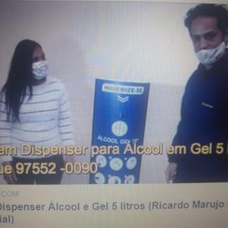 Totem Dispenser Álcool e Gel 5 litros