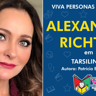 Alexandra Richter conta história para crianças hospitalizadas no projeto Viva Personas