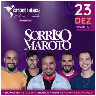 Sorriso Maroto faz show intimista no Espaço das Américas