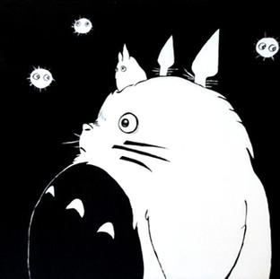 My friend Totoro (painting)