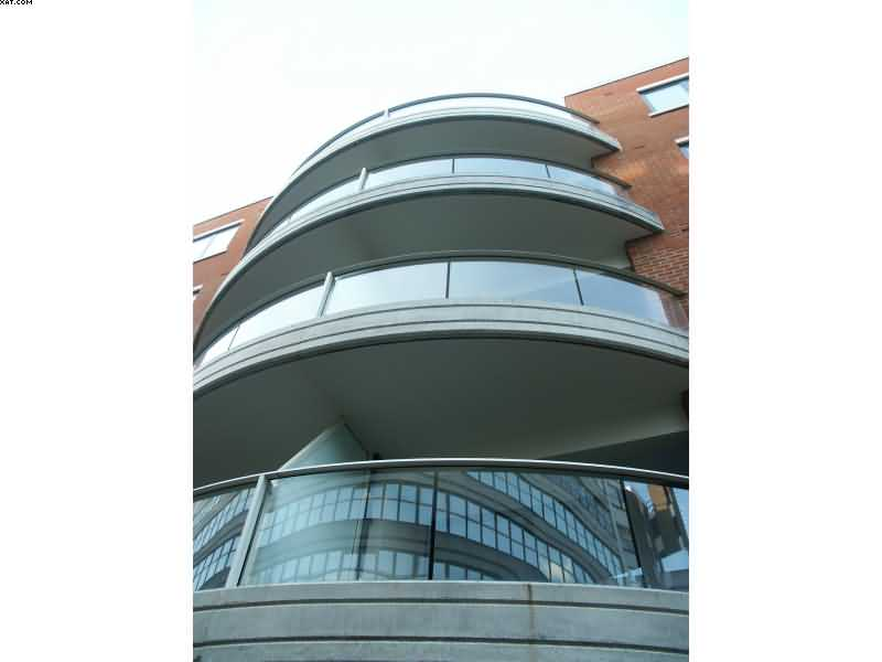 curved balconies with glass in birmingham