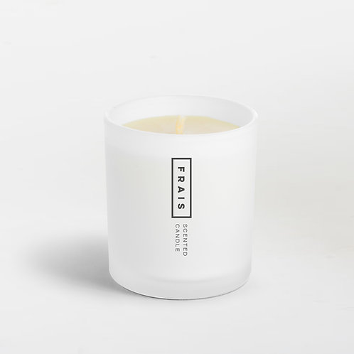 Organic 16 oz White Beeswax Candle