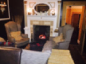 The log fire at Phil Jones @ Lle Hari