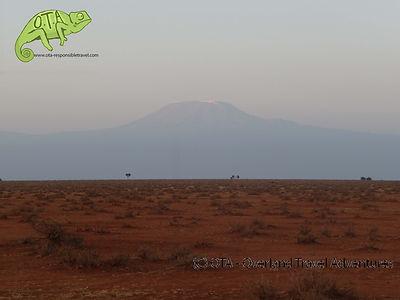 Mt Kilimanjaro viewed from Amboseli, Amboseil and Maasai Mara Safari, OTA - Overland Travel Adventures