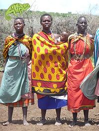 Masai women welcome us to their village, Masai Mara, Kenya to Kigali Adventure, OTA