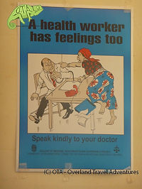 A poster in a health clinic in Malawi, travel africa, OTA - Overland Travel Adventures