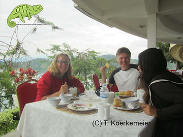 Breakfast at Lake Kivu, Kenya to Kigali Adventure, OTA - Overland Travel Adventures