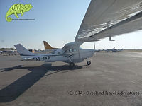 Taking off for a flight over the Okavango Delta, Botswana safaris, OTA - Overland Travel Adventures
