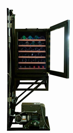 Custom wine cooler lift