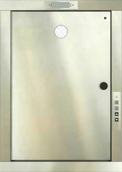 Stainless steel swing door
