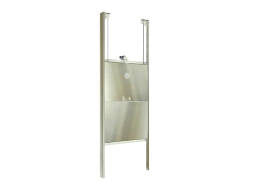 Stainless steel bi-parting car gate