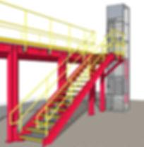 Mezzanine lift installed C.A.D.