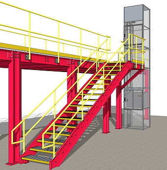 Mezzanine lift installed C.A.D.