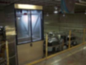 Mezzanine lift with custom siding for Airstream