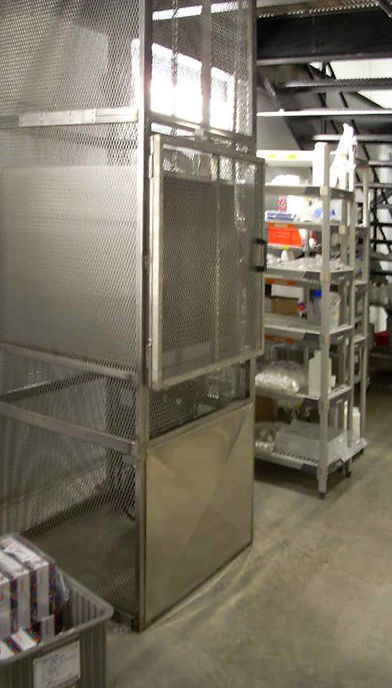 Stainless steel mezzanine lift for Thermo Fisher