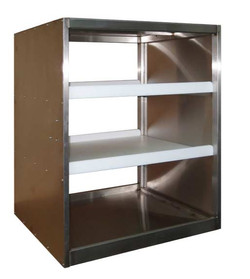 Stainless steel car with 2 shelves