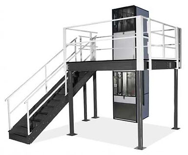 Mezzanine lift installed