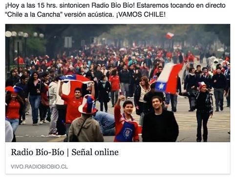 """""""CHILE A LA CANCHA"""" EN RADIO BIOBIO"""