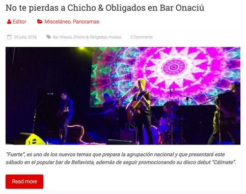No te pierdas a Chicho & Obligados en Bar Onaciú