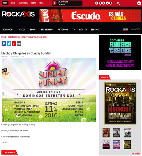Chicho y Obligados en Sunday Funday