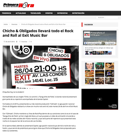 Chicho & Obligados llevará todo el Rock and Roll al Exit Music Bar