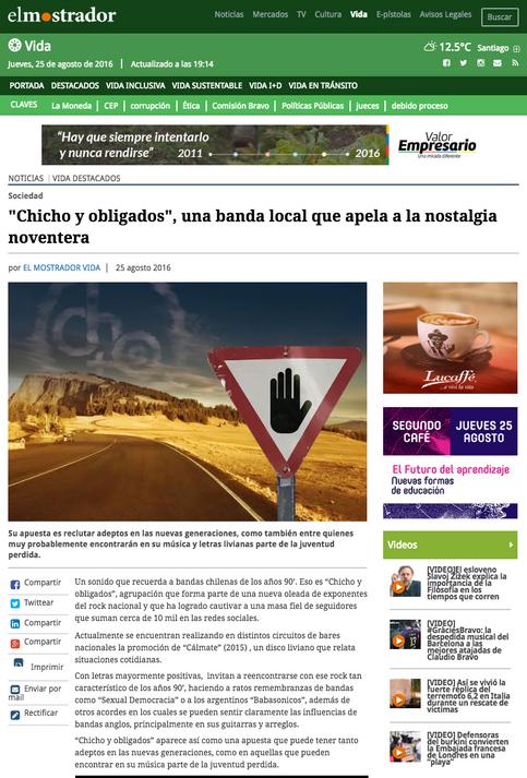 """""""Chicho y obligados"""", una banda local que apela a la nostalgia noventera"""
