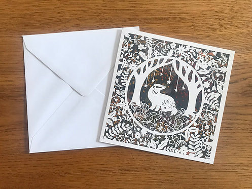 'Woodland Badger' Greeting card