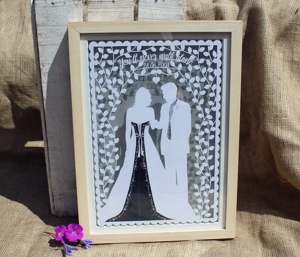 Commission a wedding paper cut from your photos