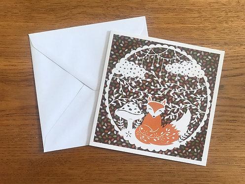'Francis Fox' Greeting card