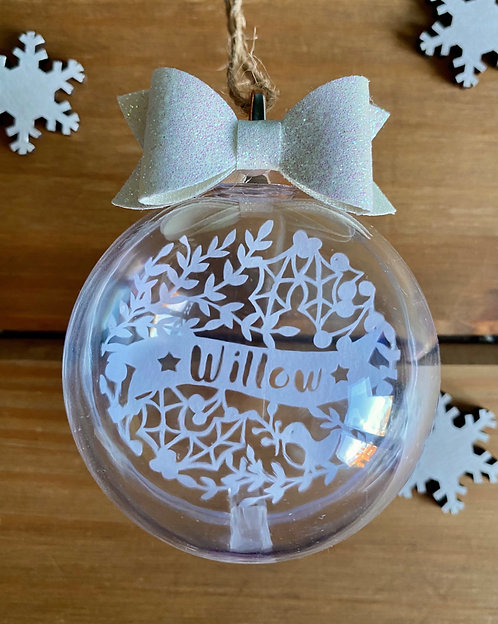 Personalised bauble - Intricate