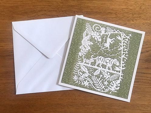 'Jungle Island' Greeting card