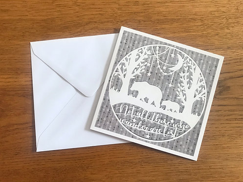 'Wandering Bears' Greeting card